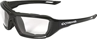 Radians XT1-11 Extremis Full Black Frame Safety Glasses with Clear Anti-Fog Lens
