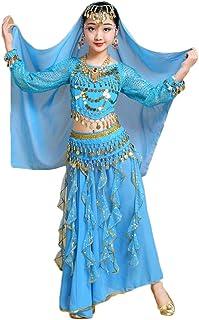 LaoZanA Mädchen/Damen Bauchtanz Rock Glänzend Tanzrock Ägypten Indische Tanzkleidung
