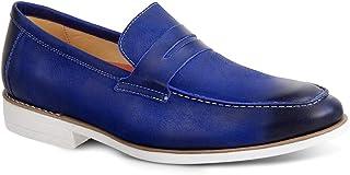 1ea0ea73d Sapato Casual Masculino Loafer Sandro Moscoloni El Dorado Azul
