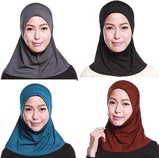 قبعات الحجاب الإسلامي النسائية ذات الطابع الإسلامي من GladThink 4 قطع