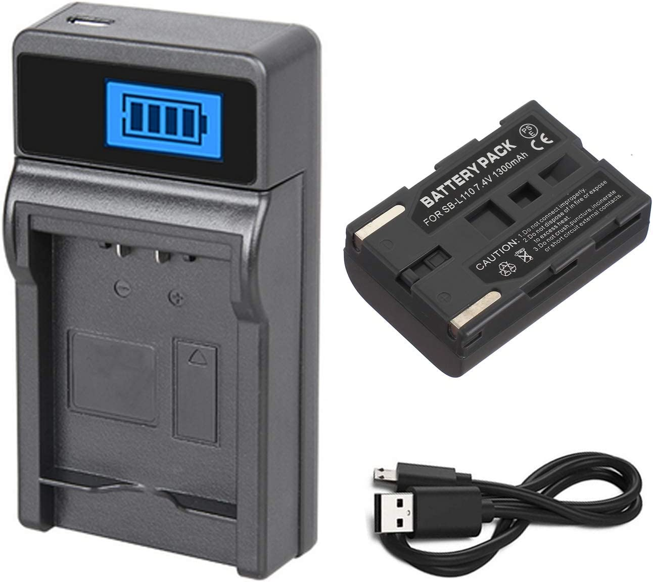 SC-D71 SC-D75 Charger for Samsung SC-D70 SC-D73 SC-D77 Digital Video Camcorder Battery Pack