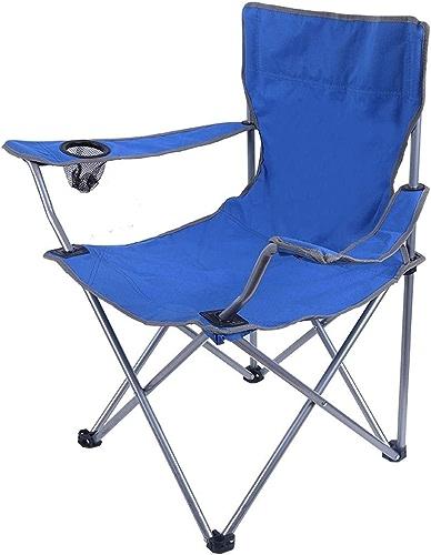 Chaise de Camping en Plein air de en Aluminium épais accoudoir Pliant Directeur de pêche (Couleur   bleu)
