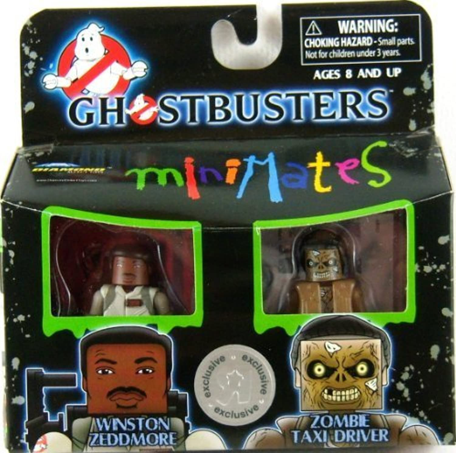 Ghostbusters Minimates Winston Zeddmore & Zombie Taxi Driver by Diamond Select