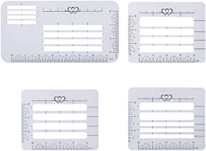 Kasmena 4Pcs 4 Style Envelope Addressing Guide Stencil Templates for Wide Range of Envelopes, Sewing, Thank You Card, Scrapbooking Template