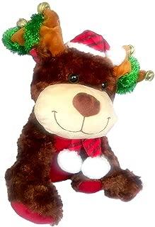 Merry Brite Animated Plush Reindeer Dances and Sings Jingle Bells