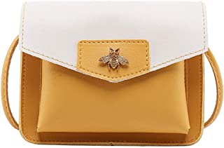 Wultia - Bags for Women 2019 Women Contrast Laminated Single Shoulder Bag Messenger Bag Bolsa Feminina Yellow