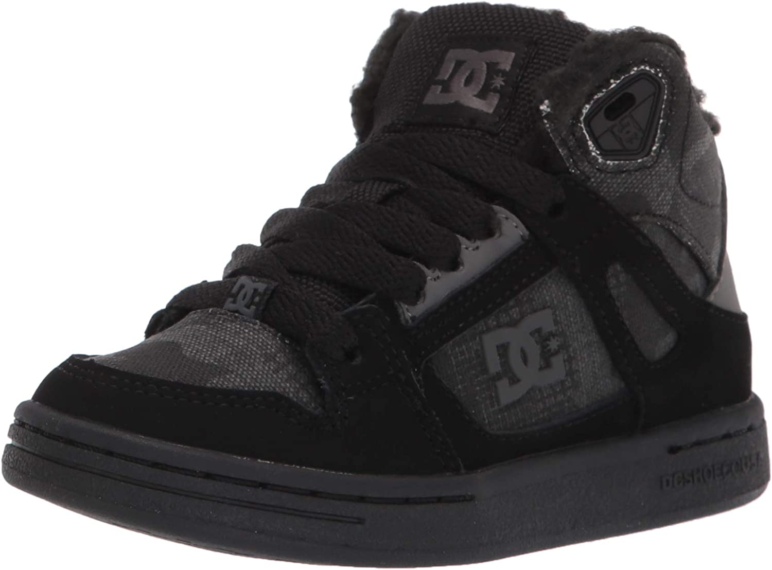 DC Unisex-Child Pure High-top Wnt Skate Shoe