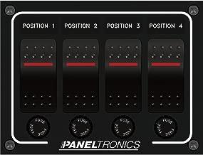 Paneltronics Waterproof Panel - DC 4-Position Illuminated Rocker Switch & Fuse (45289)