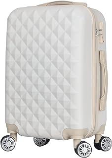BASILO-012 スーツケース キャリーバッグ キャリーケース かわいい おしゃれ キルト風 ファスナータイプ 軽量 TSAロック ダブルキャスター Sサイズ 機内持込/Mサイズ コロナ 入院 療養