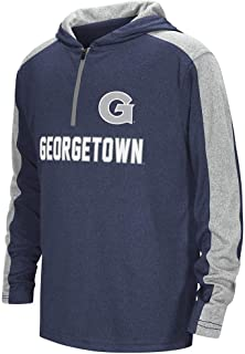 Colosseum Youth Georgetown Hoyas Quarter Zip Hooded Windshirt