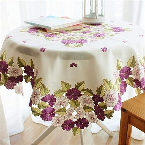 BAHDLES Romantische lila füral Tischw he, Elegante Blaumen beStückte Tischplatte, Weißachten Tischdekoration 10cm  x10cm