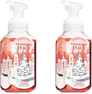 Bath and Body Works 2 Cranberry Peach Gentle Foaming Hand Soap. 260ml