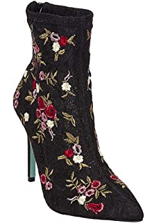 Women's REMI Ankle Bootie, Black/Red, 7.5 M