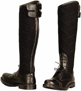 Todos los productos obtienen hasta un 34% de descuento. TuffRider Mujeres de Alpine Acolchado Campo botas en Cuero Cuero Cuero sintético, Negro, tamao  9,5  ahorra hasta un 70%