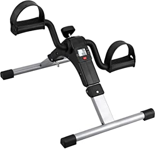 REVO Fitness Cycle - Foot Pedal Exerciser - Foldable Portable Foot, Hand, Arm, Leg Exercise Pedaling Machine - Folding Mini Stationary Bike Pedaler, Fitness Rehab Gym Equipment for Seniors, Digital