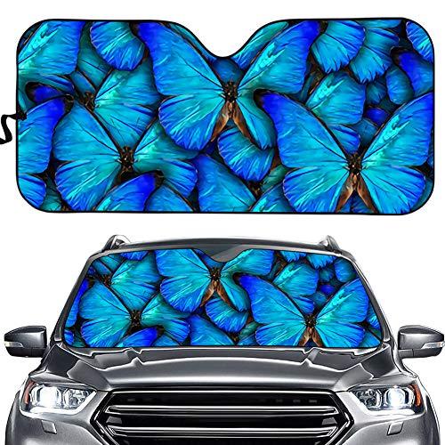Hermoso parasol para parabrisas delantero de coche con forma de mariposa para mujeres/niñas, bloquea los rayos UV, parasol plegable de acordeón para coche, camión, SUV, mantiene tu vehículo fresco