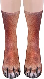 Unisex Adult Animal Paw Crew Socks - Sublimated Print