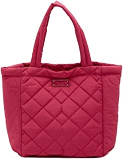 Quilted Nylon Tote Bag, Begonia