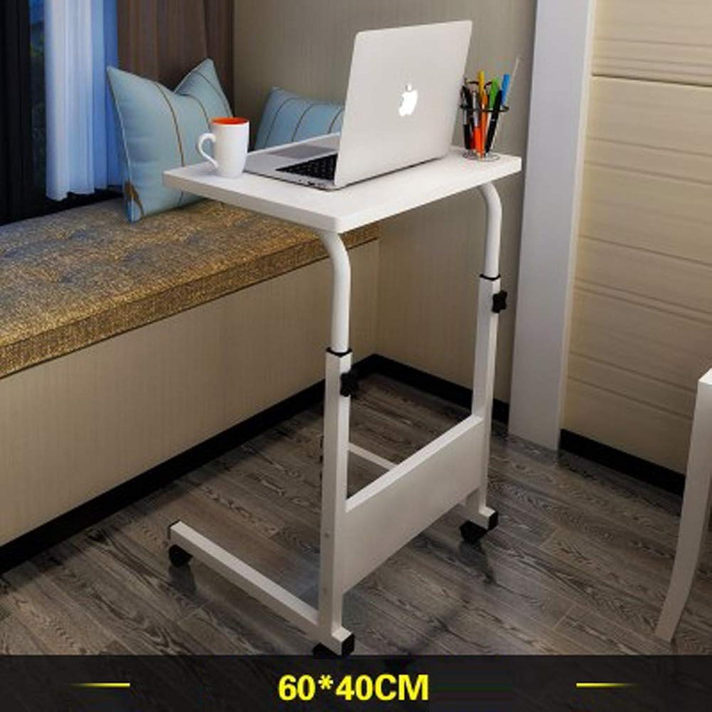 LINlz Laptop Desk Adjustable Portable Stand Laptop Table for Sofa Bed White (Size   60x40cm)