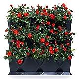 minigarden Vertical 1 Set per 9 Piante, Giardino Verticale Modulare e Espandibile, Posizionato sul Pavimento o Fissato al Muro, Sistema di Drenaggio Innovativo, Lungo Ciclo di Vita (Nero)