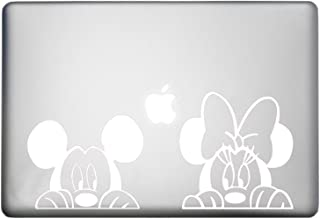 Walt Disney Mickey Mouse Sticker MacBook Air Pro Decal is a Mickey Mouse Decal. Laptop Size 11, 12, 13 and 15 inch. Looks Great with Your Mick Minnie Peeking Theme. Many Colors- White