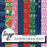 """Scrap It! Christmas Knit Scrapbook Paper - Multicoloured - 8.5"""" x 8.5"""" - 8 Designs - 24 Pages: Versatile craft paper perfect for Scrap Books, ... Origami, Decoupage, Collages and more!"""