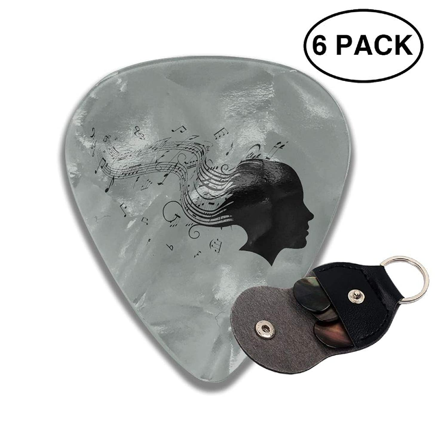 Houde Ankang Musical Notes 6 Pieces Personalized Guitar Picks.