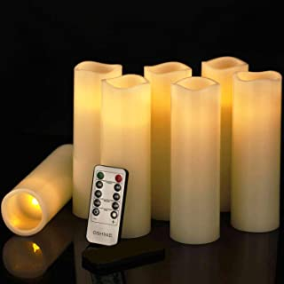 Room Decoration, flameless Candlestick, Battery Candle, LED Candle, 7-Piece LED Candle Set, (7