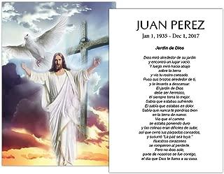 Tarjetas Funerales De Recordatorio (50 Cards) FPC1151ES Dios recibiendo (Impreso personalizado - Seleccione oración deseada)