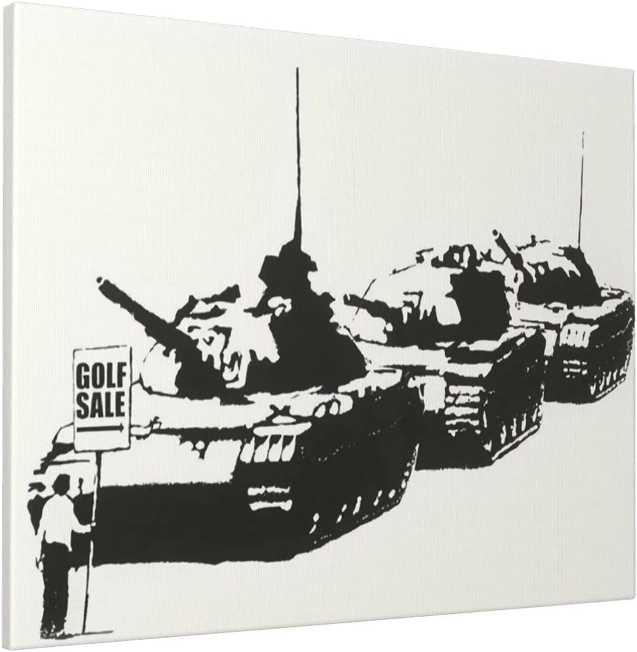 Banksy Golf Sale Signed Poster 20x16 Phoenix Mall Large Inch Painting Online limited product Framed