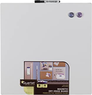 Quartet Magnetic Dry-Erase Board Tile, 17 x 17 Inches, Frameless, Assorted Surface Colors, Modular (48116)
