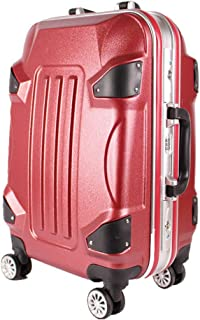 Password Business Luggage Matte Craft Mute Universal Wheel Travel Trolley case red 28 inch
