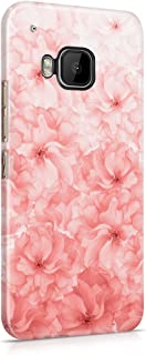 Rose Gold Floral Ombre Hard Plastic Phone Case For Htc One M9