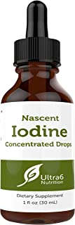 Nascent Iodine Drops Supplement in Liquid Concentrated Tincture for Best Absorption and for Thyroid Support