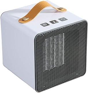 QAZWSX Calefactores Silenciosos,Mini Calefactor Electrico,Calefactor Portátil Base Antideslizante Doble Control De Temperatura Gran Volumen De Aire Apto para Hogar