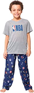Boy's 2 Piece Soft Tee Shirt & Lounge Pants Sleepwear Loungewear Pajama Set