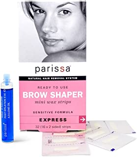 Parissa Eyebrow Shaper Wax Strip, 32 count