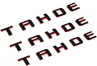 Yoaoo 3x OEM Tahoe Red Line Nameplate Emblem Badge Letter 3D Logo for Suburban Original Redline