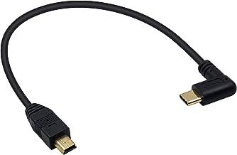 Duttek USB C to Mini USB Cable, Mini USB to Right Angle USB C Cable, Right Angled USB 3.1 Type C Male to Mini USB Male Con...