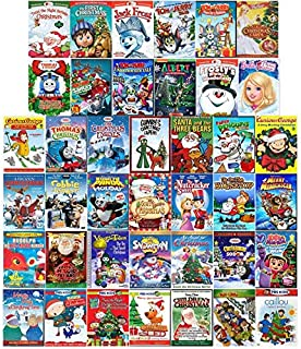 Ultimate Animated Holiday & Christmas 40-Movie Megaset DVD Collection: 'Twas the Night/Jack Frost/Tom & Jerry/Barbie/Thomas & Friends/VeggieTales/Curious George/Kung Fu Panda/Frosty/PBS/Penguins of Ma