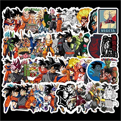 AXHZL Dragon Ball Z Doodle Stickers Does Not Repeat Car Motorcycle Cartoon Doodle PVC Sticker