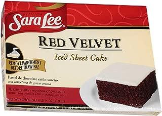 Sara Lee Iced Red Velvet Sheet Cake, 78 Ounce -- 4 per case.