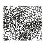 koziol Raumteiler / Dekoelement Silk, Kunststoff, transparent anthrazit, 27.1 x 27.1 cm