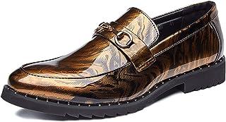 Battle Men Men s Slip-on Oxfords Shoes Patent Microfiber Leather Business  Casual Dress Wedding Loafers dcdada37bdd3