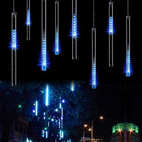 Minger LED Falling Rain Lights with 11.8inch 8 Tube 144 LEDs, Meteor Shower Lights