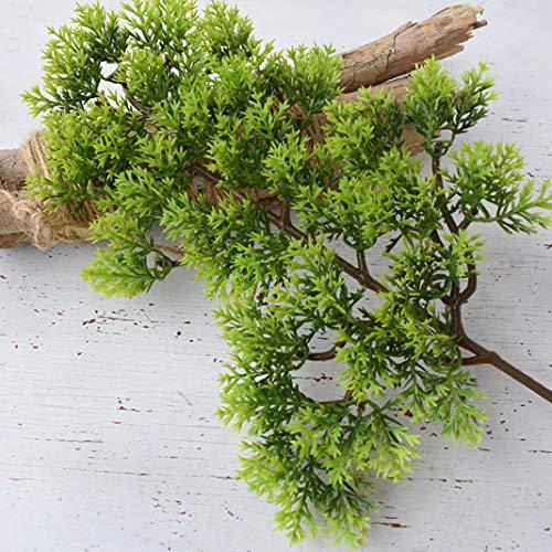 Enticerowts Flor, 1 pieza de plástico artificial de pino ciprés Bonsai natural y hermoso jardín hogar oficina decoración