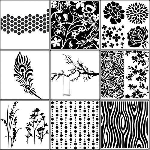 William-Lee 9 stks/set Boom Airbrush Schilderen Stencil Sjabloon DIY Scrapbooking Embossing Album Craft Herbruikbare Decoratieve Papier Kaart Craft Art Handgemaakte Gift