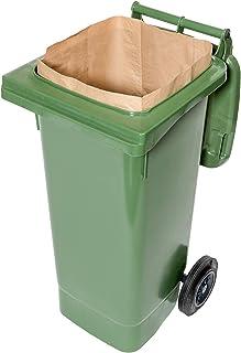 240 lt. composteerbare papieren zakken voor bio-bakken, 1-laags, scheurvast en natsterk (25 stuks)