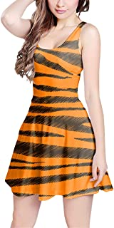 Rainbow Rules Tigger Stripes Winnie The Pooh Inspired Sleeveless Flared Skater Dress