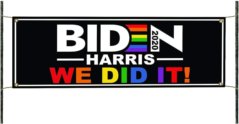 We Did It Biden Harris USA Indoor バーゲンセール [再販ご予約限定送料無料] to President Outdoor 2020 Easy